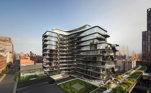 520 West 28th Street. Image courtesy of Zaha Hadid Architects.