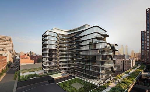520 West 28th Street. Image courtesy of Zaha Hadid Architects.