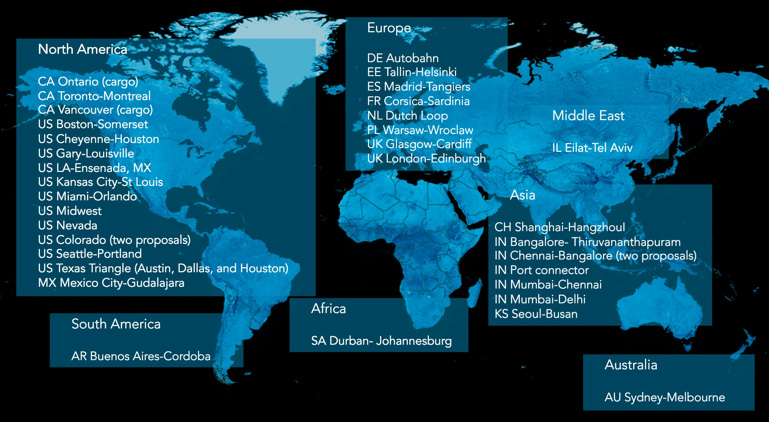 Hyperloop One announces 35 semifinalists in 17 countries for its ...