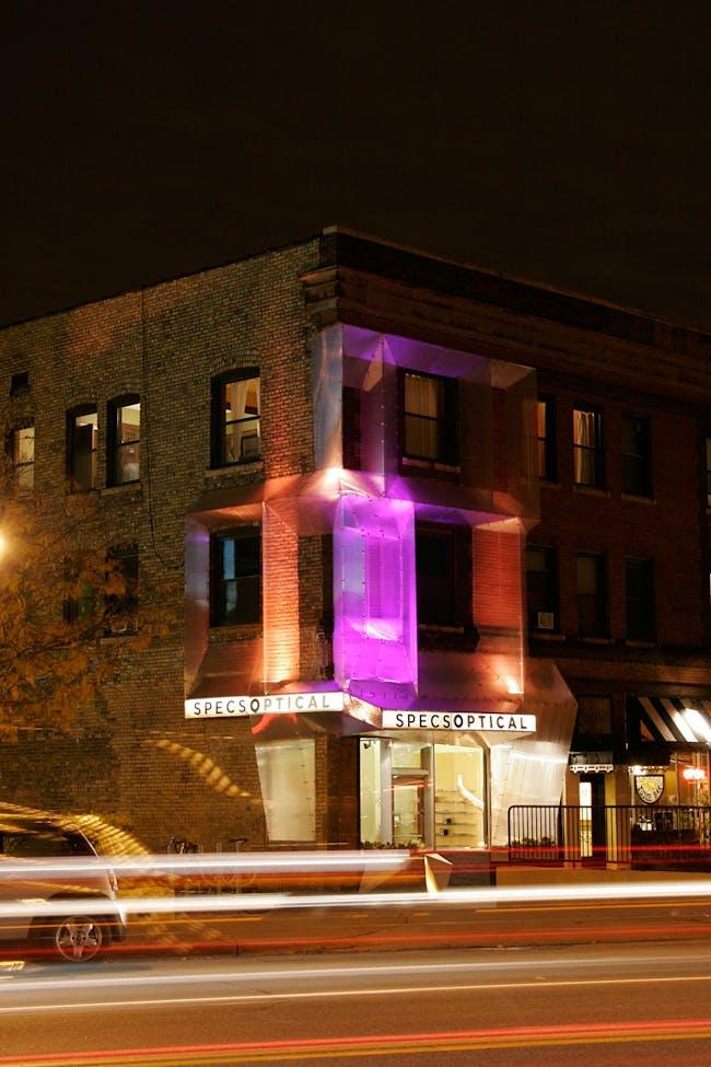 SPECS Optical Façade; Minneapolis, MN by Alchemy Architects (Photo: Geoffrey Warner and Scott Ervin)