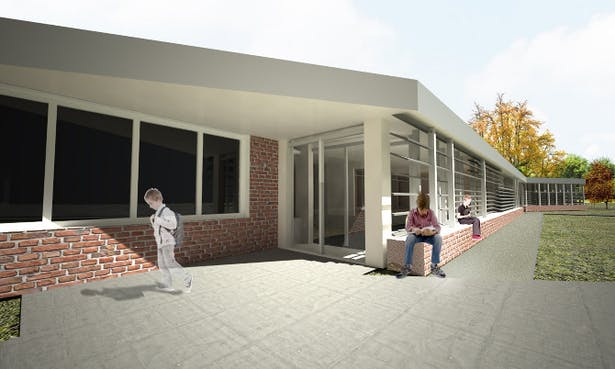 Rendering of front entrance