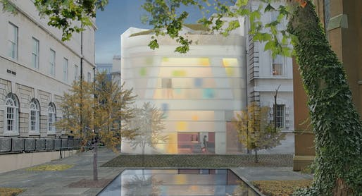 Proposed design of Maggie's Centre at Barts by Steven Holl Architects. Image courtesy of Steven Holl Architects.