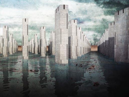 """Vanport Necropolis"" by Nicolas Pectol. Honor Award recipient at 2016 AIA NW & Pacific Region Student Design Awards"