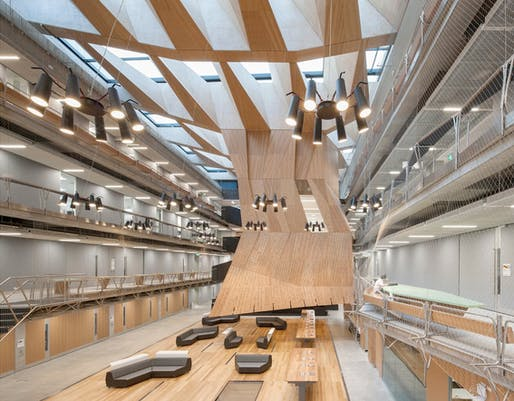 Interior of the Melbourne School of Design by John Wardle Architects + NADAAA. Photo: John Horner.