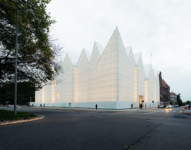 PHILHARMONIC HALL SZCZECIN - Szczecin, Poland. Designed by Barozzi / Veiga. Photo courtesy of Designs of the Year 2015.