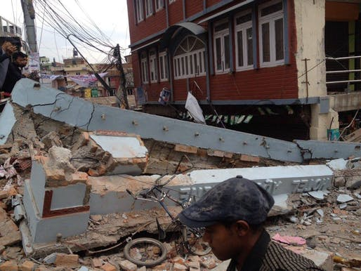 Building damage from the April 25th earthquake in Nepal. Another large earthquake hit the mountainous country earlier today. Credit: Wikipedia