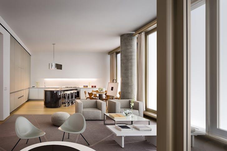 56 Leonard. Herzog & de Meuron Architects. © Alexander Severin