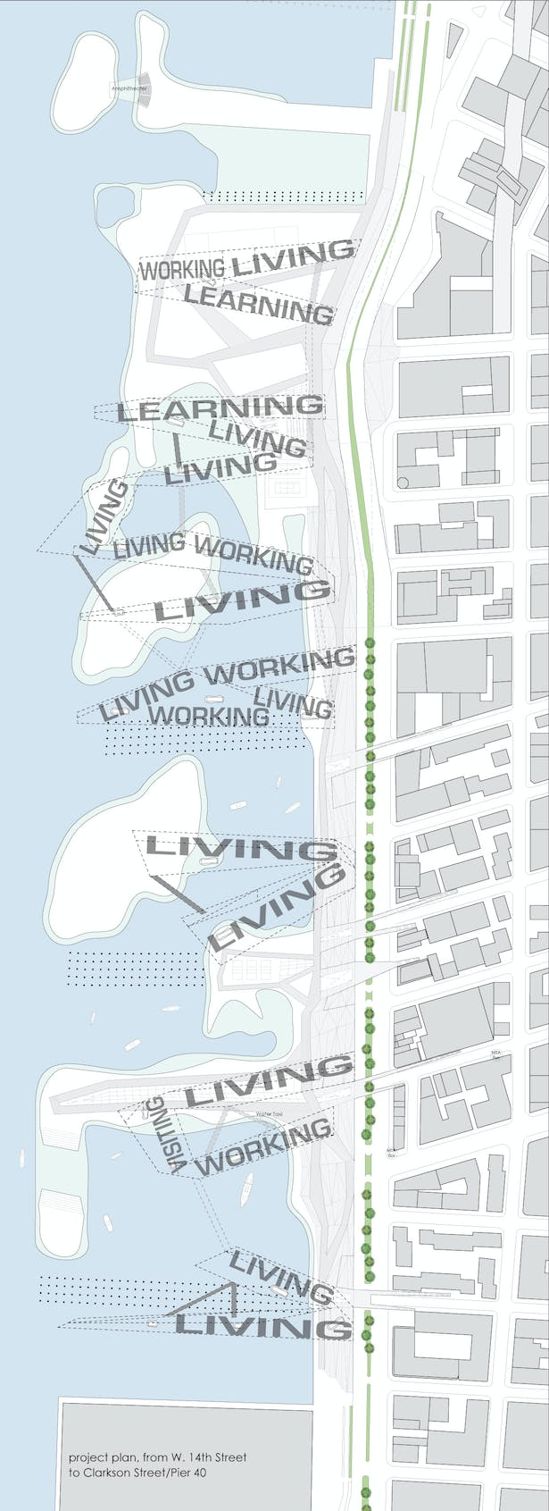 project plan from W. 14th Street to Clarkson Street/Pier 40