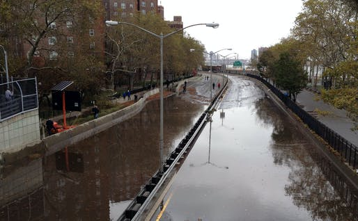 Flooding on FDR Drive. Image via wikimedia.org