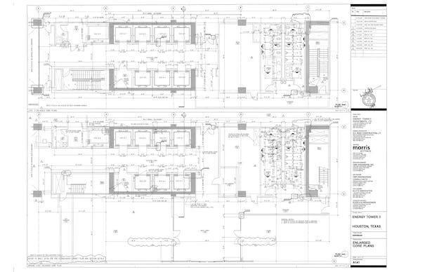 Core detail - Sample drawing