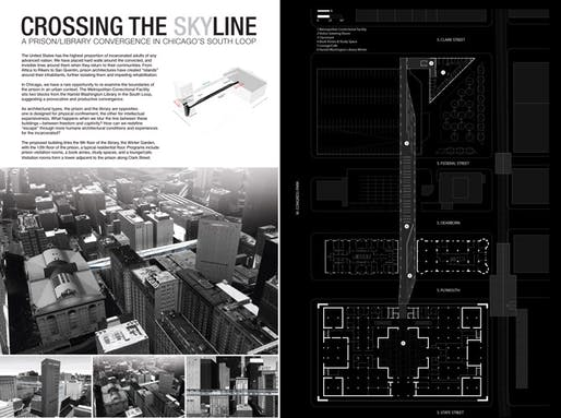 RUNNER UP: CROSSING THE SKYLINE by Aneesha Dharwadker (Chicago Design Office). Image courtesy Chicago Architectural Club.