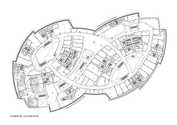 Olympia 66 in Dalian, China by Aedas - L5 Floor Plan