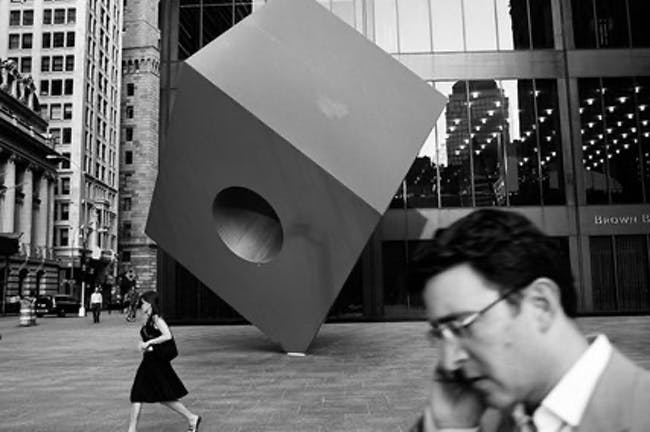 Noguchi Cube, New York, photo by Jeremy M. Lange