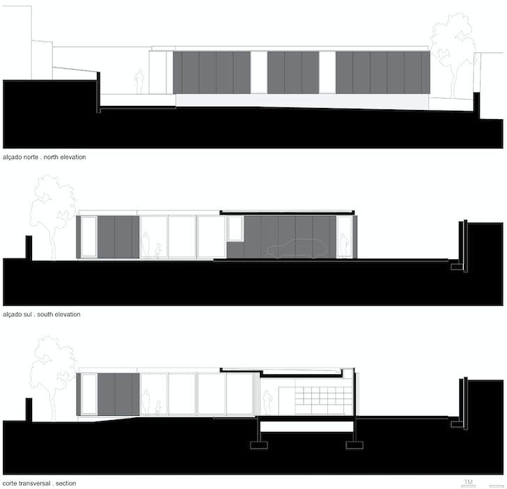 Section elevation. Image: Arquitectos Matos