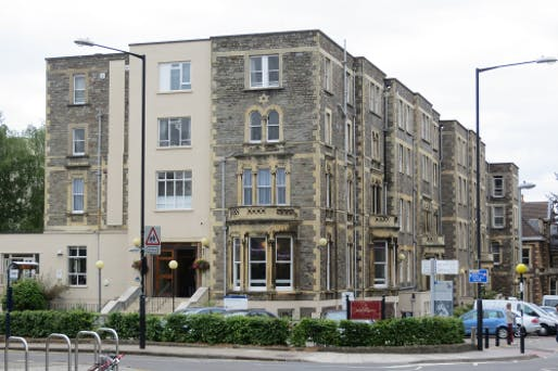 The current Hawthorns Building, to be replaced by the library. Image: University of Bristol