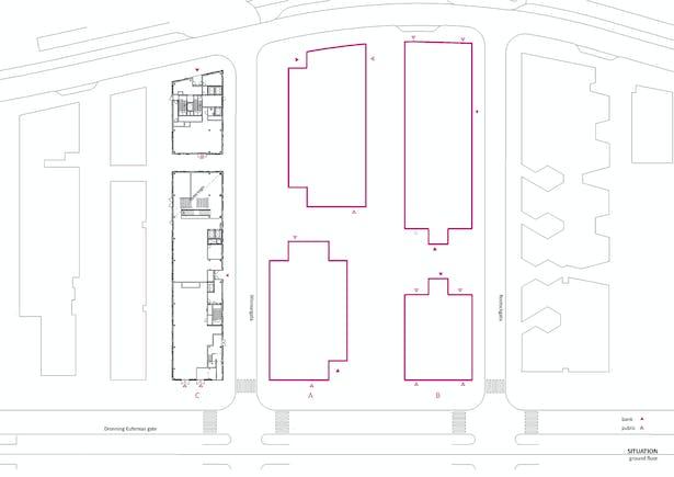 Situation/ground floor.Copyright © Dark Arkitekter