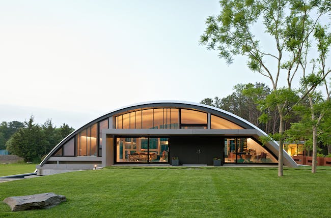 Arc House in East Hampton, NY by Maziar Behrooz Architecture