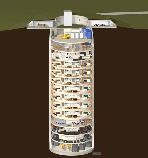 Custom High Security Luxury and Multi-Use Bunker Complex via Survival Condo