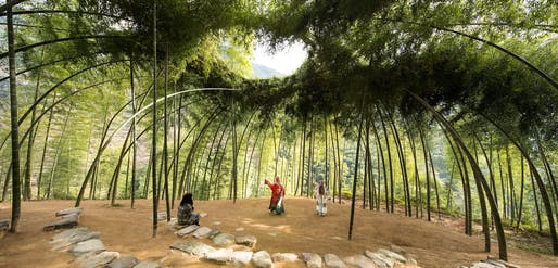 Bamboo Theater, 2015–ongoing; Hengkeng Village, Songyang County, Zhejiang Province, China, completed 2015; Designed by Xu Tiantian (Chinese, b. 1975), DnA_Design and Architecture (Beijing, China, founded 2004); Bamboo; Photo by Wang Ziling © DnA_Design and Architecture