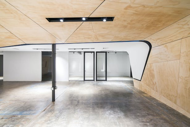 central space with office