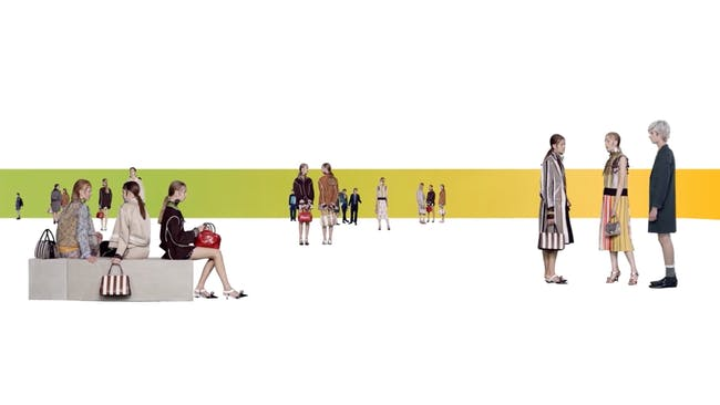 A still from AMO's newest collaboration with Prada. Credit: AMO/OMA