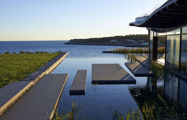 Natural Filtered Infinity Edge Pool Looking East