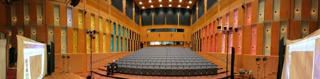 Panorma of Korundi Music Hall, Juhani Pallasmaa