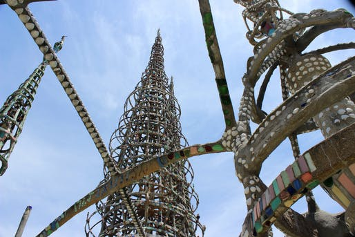 Watts Towers in 2014. Photo: IsabelleAcatauassu/Flickr.