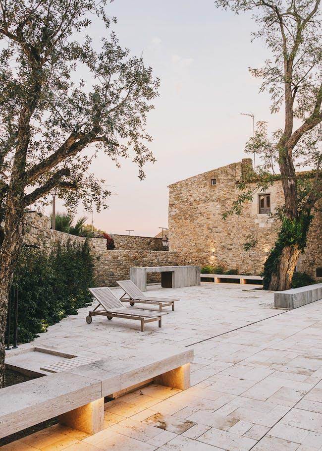 A cut stone garden in Peratallada, Spain by MESURA