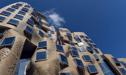 Architect Frank Gehry's Dr Chau Chak Wing building. Photograph: Paul Miller/AAP. Image via theguardian.com.