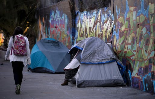 Homelessness in Mission Creek, San Francisco. Photo: Michael Macor, The Chronicle