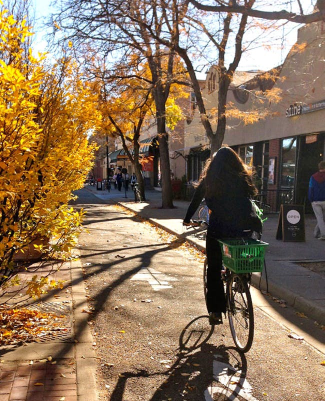 13th St., Boulder, CO. Image via PeopleForBikes.
