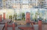"Herzog & de Meuron plans ""Horizontal Skyscraper"", perched on top of stilts, for Moscow"