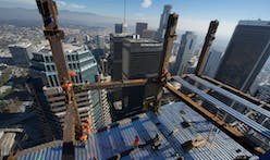 Wilshire Grand Tower, the West Coast's tallest building, structurally tops out in LA