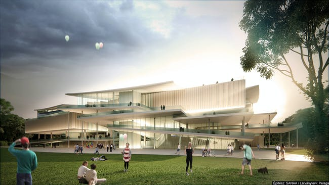 SANAA's winning proposal for the new National Gallery + Ludwig Museum in Budapest.