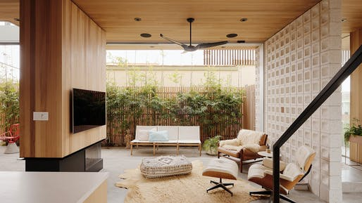 Walk-Street House in Hermosa Beach, California by ras-a studio is among the winners in the One- and Two-Family Custom Residences category. Photo: Joe Fletcher.