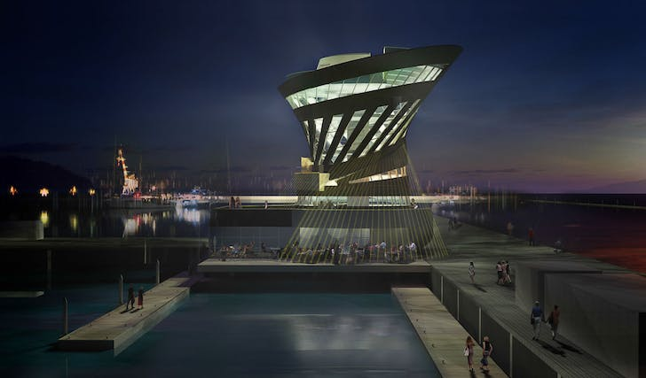 Marina authorities Building, Porto Montenegro. Image courtesy of the architect.
