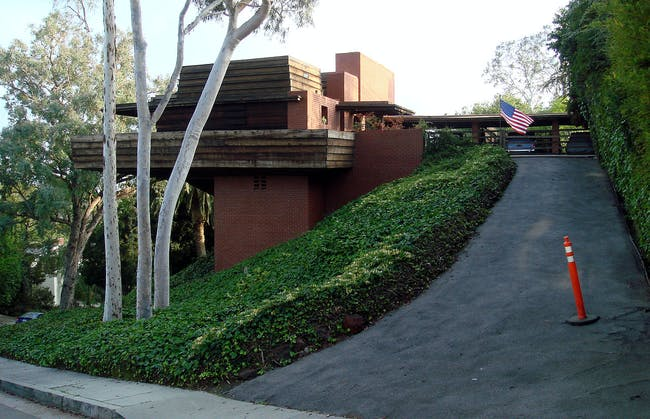 Frank Lloyd Wright's Sturges House (1939) in Los Angeles, California via Bobak Ha'Eri