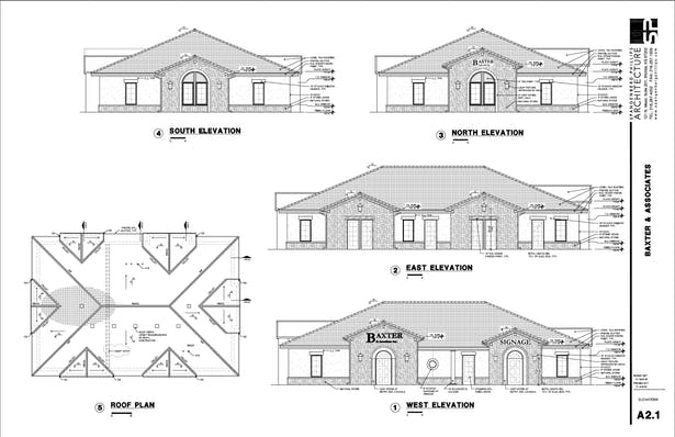 Baxter Elevations & Roofplans