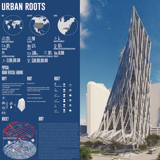 Third Place: Urban Roots Students: Ashkan Radnia, Gavin Reeb, and Spencer Sparagna