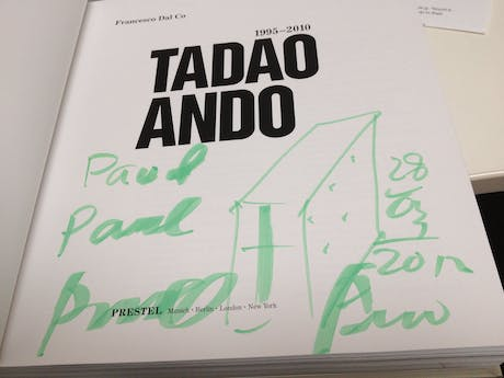 Just finished up our interview with Tadao Ando. Such a humble, thoughful man.