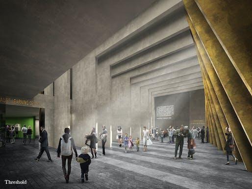 The Threshold. © Adjaye Associates and Ron Arad Architects
