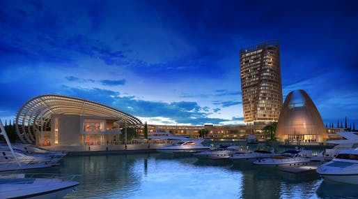 M.M. Makronisos Marina, Ltd. Ayia Napa Marina rendering by by SmithGroupJJR, located in Cyprus. Image: SmithGroupJJR.