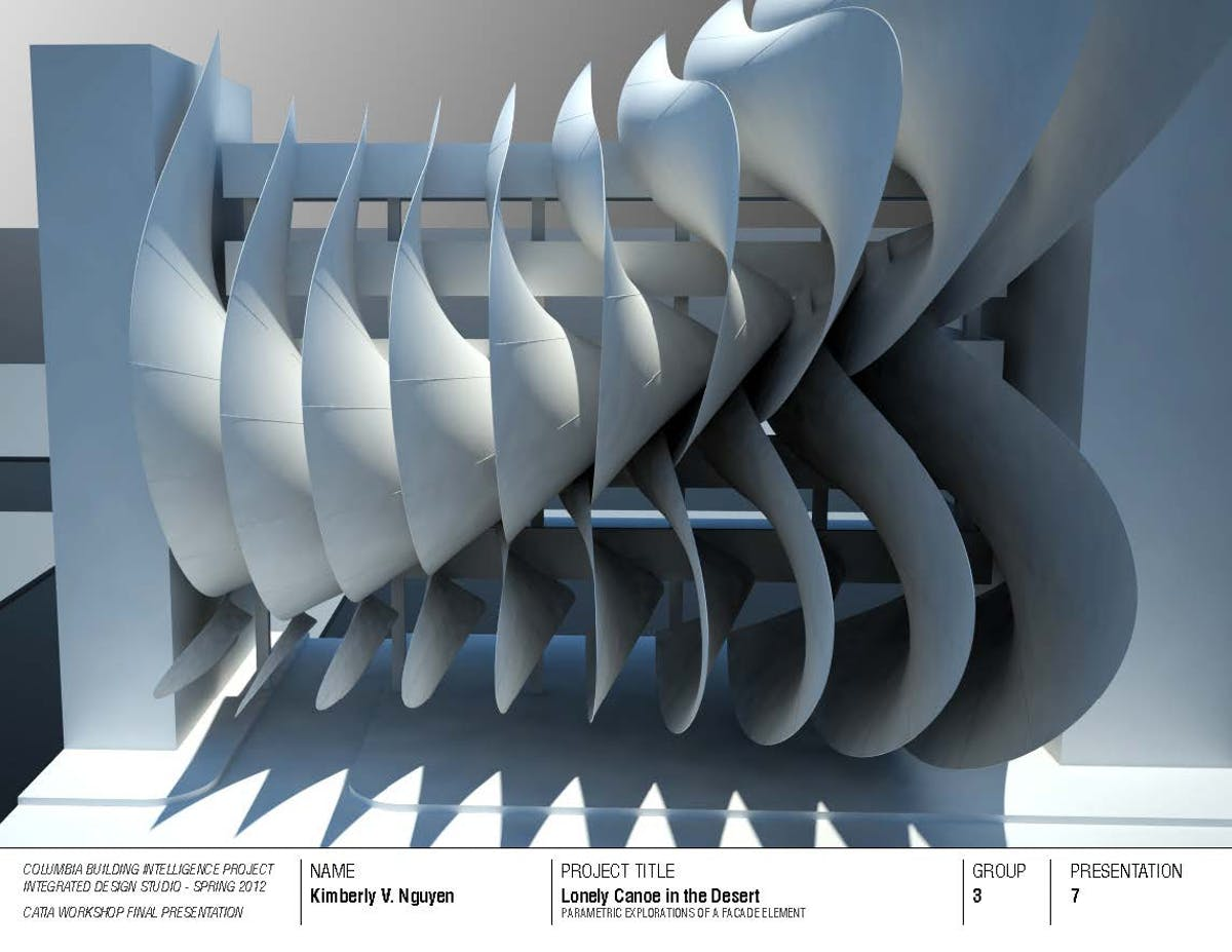 Facade Element (CATIA) | Kimberly V K H  Nguyen | Archinect
