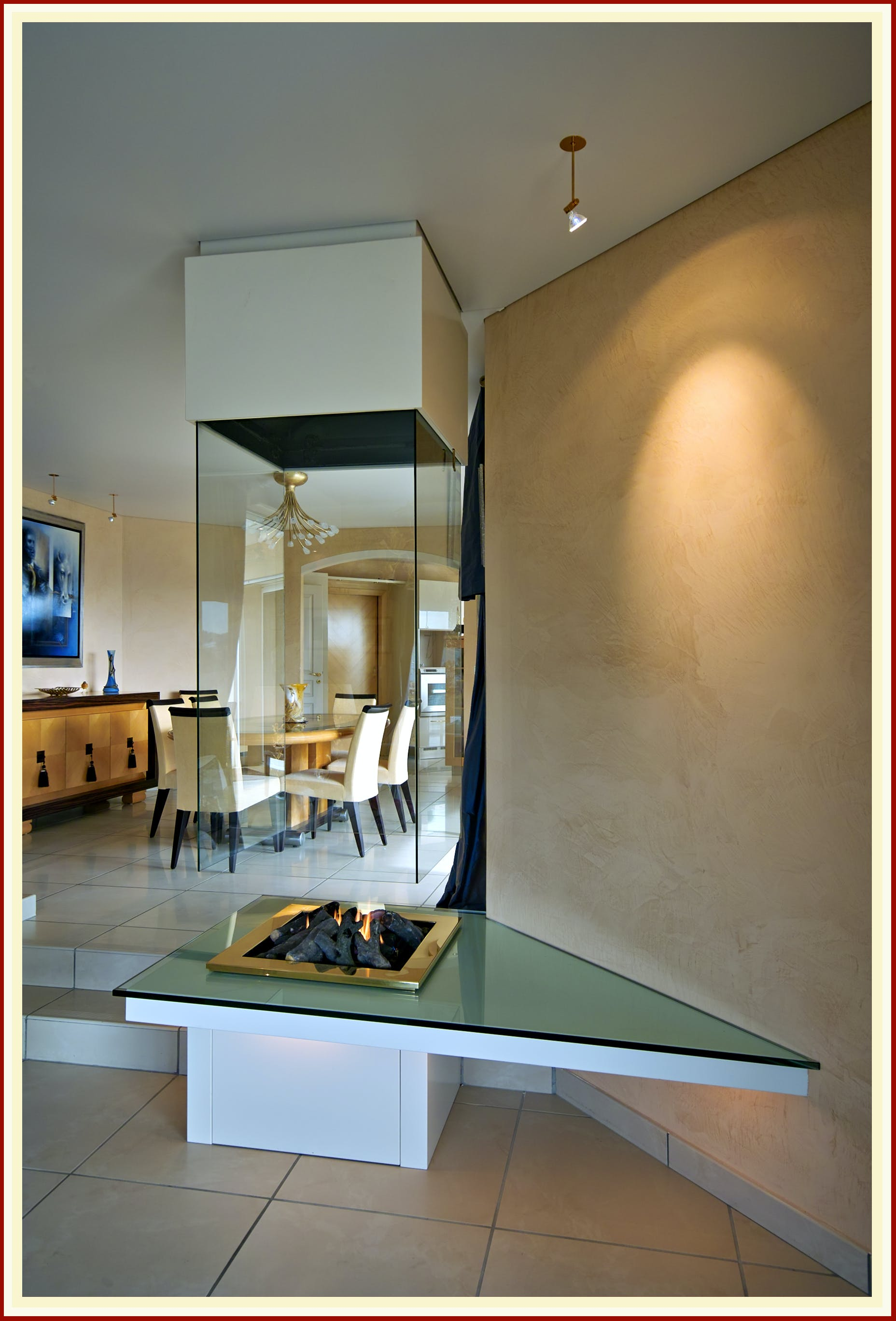Free Hanging Fireplace / cheminée suspendue | BLOCH DESIGN | Archinect