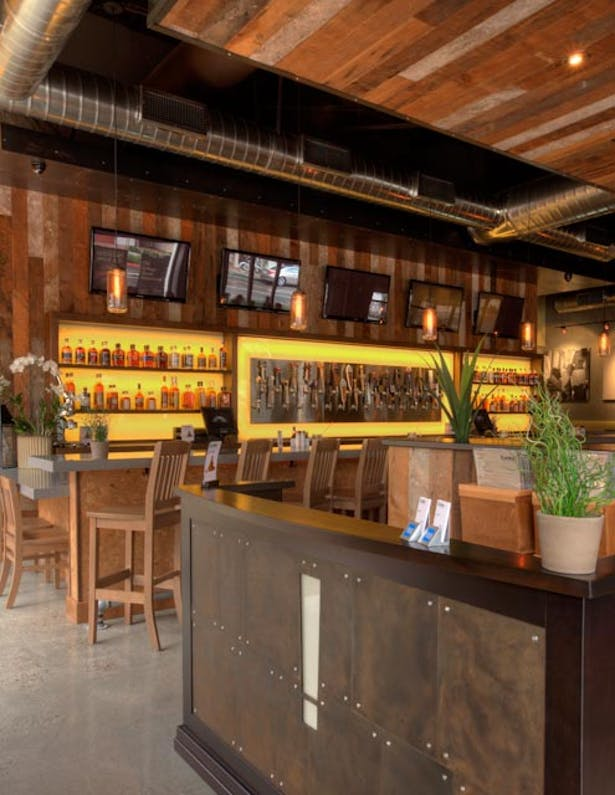 authentic | brand centric restaurant design. vibrant interior finishes with modern industrial styling. 4,250 sq ft.