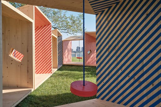 2019 City of Dreams pavilion winner: Salvage Swings, courtesy of Somewhere Studio. Photo by James Leng.