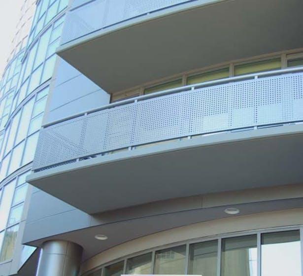 Balcony railing details.