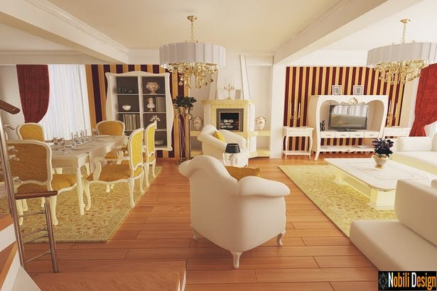 Draft classic interior design houses Bucharest- Nobili Interior Design