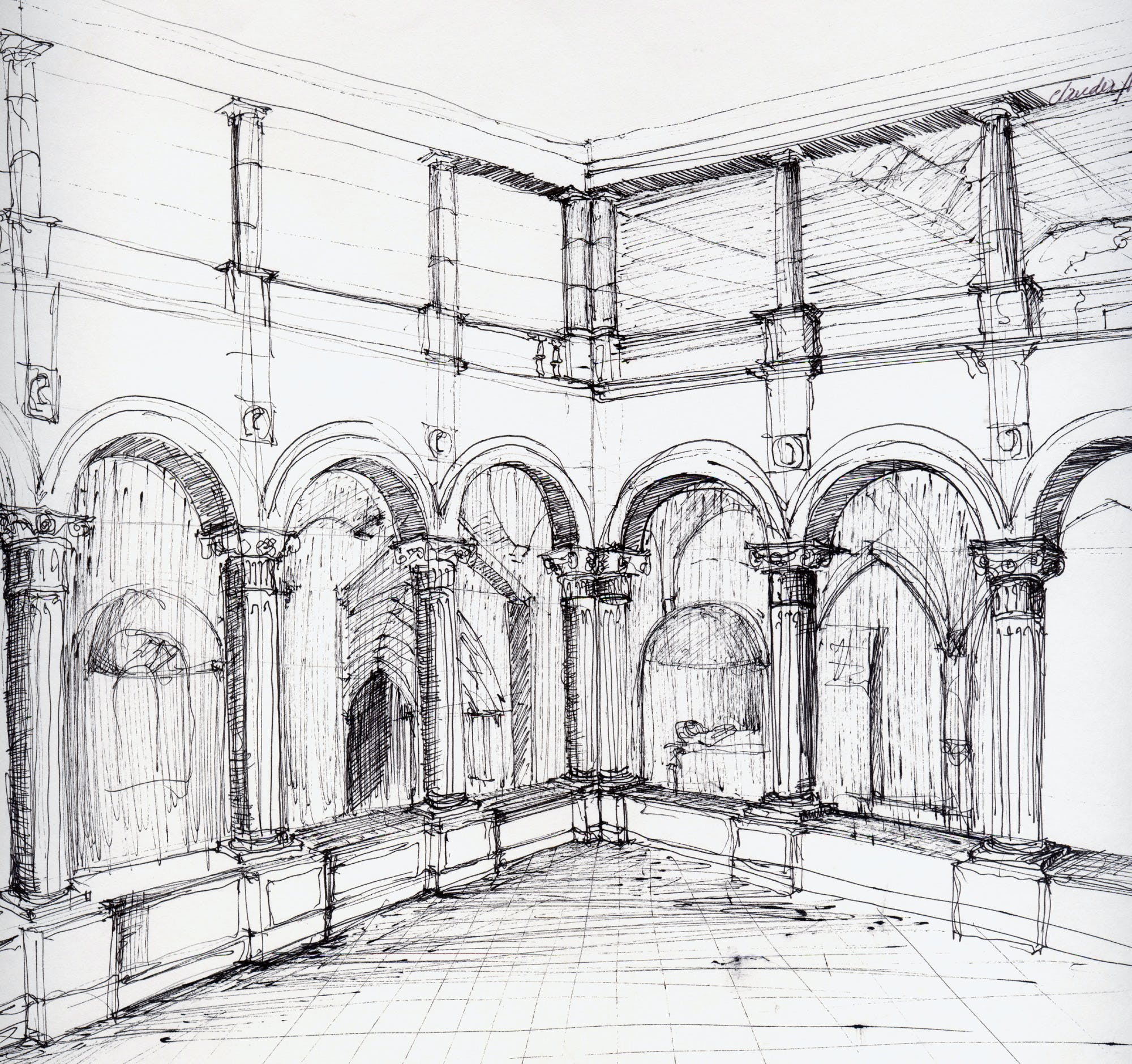 Free hand drawing cl udia lima archinect for Free online drawing